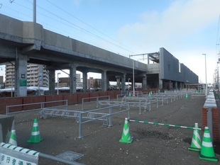 野幌駅南口横・駐輪場