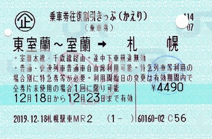 乗車券往復割引きっぷ
